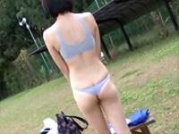 長身181cm 恥ずかしいくらい大きなカラダ バレーボールに汗を流す純情アスリート女子大生 青山沙希[1]