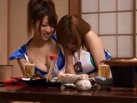 一日体験! 温泉コンパニオン編 鈴音りおな 吉川ゆあ[4]
