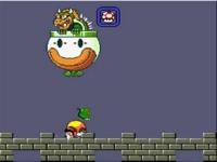 スーパーマリオワールド クッパ戦の巨大鉄球を倒したときに出てくる緑バグの検証動画