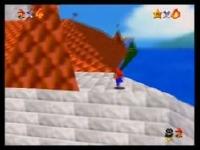 スーパーマリオ64 自力で城の屋根に上がる裏技