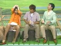 収録中ハプニング!!思いがけない事故で女性の本能丸出し!![芸能/お宝]