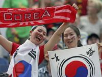 韓国サポーターの団結力!!これぞ醍醐味??