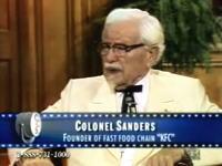 生前のカーネル・サンダースがインタビューに答える貴重映像
