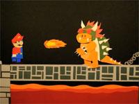 ペラペラ動画。ようつべの神が紙でマリオを表現したゲーム動画