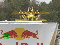 飛ぶ気ゼロw ロシアで行われた鳥人間コンテストがフリーダムw