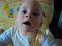 赤ちゃんアババババババババな一発芸