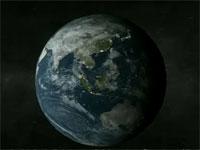 地球の内部にパラレルワールドがあるという仮説を3Dで図解した動画