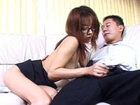 【その他】メガネをかけたインテリ女教師が男を誘惑・・・[無修正]